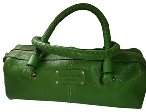 Kate Spade Feminine Preppy Sporty Leather Casual Elegant Satchel in green