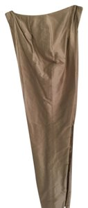 Dana Buchman Straight Pants Taupe with hint of gold