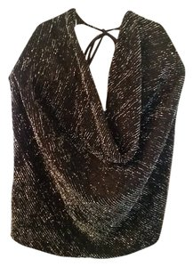 Clothes Compact black/sparkle Halter Top