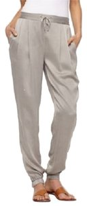 Eileen Fisher Silk Charmeuse Relaxed Pants Stone