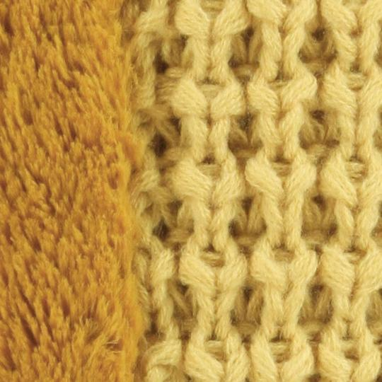 Other Yellow Mustard Gold Waffle Knitted Fleece Infinity SNood Fall Winter Scarf