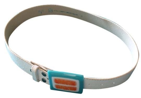 Preload https://item3.tradesy.com/images/white-with-turquoise-orange-and-white-ceramic-buckle-belt-4727497-0-0.jpg?width=440&height=440