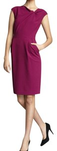 Lafayette 148 New York Wool Crepe Cap Sleeve Dress