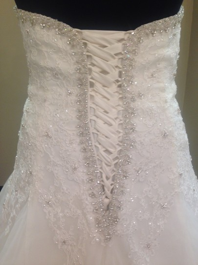 Mori Lee Ivory Lace and Tulle 3158 Wedding Dress Size 24 (Plus 2x)