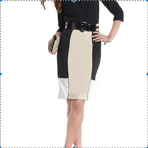 White House | Black Market Skirt Colorblock