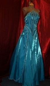 Precious Formals Blue Precious Formals: Turquoise Blue Gown Size: 12 #: Dress