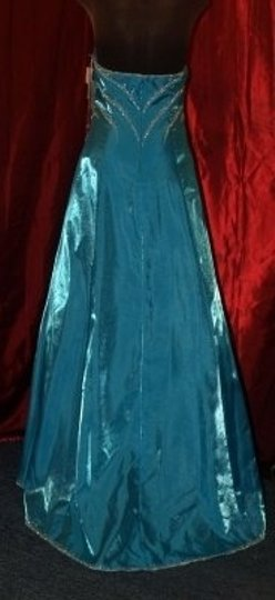 Precious Formals Blue Other Turquoise Gown #: Bridesmaid/Mob Dress Size 12 (L)