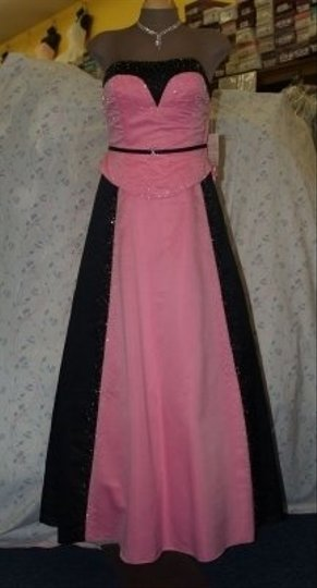 Preload https://item4.tradesy.com/images/precious-formals-pink-and-black-satin-blackpink-handbeaded-gown-formal-bridesmaidmob-dress-size-8-m-47288-0-0.jpg?width=440&height=440