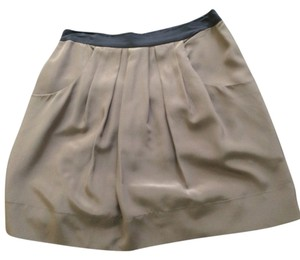 BCBG Paris Pleated Professional Mini Skirt Dusty Olive