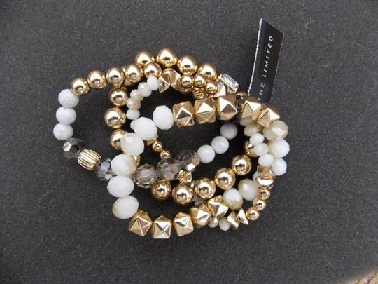 The Limited NWT The Limited 4 Strand Stretch Goldtone Bracelet