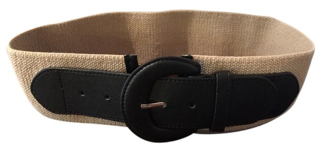 Item - Tan Thick and Black Belt