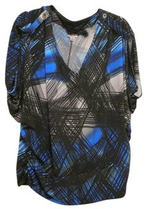 Worthington Blue Black Xl Top Blue, Black, & Grey