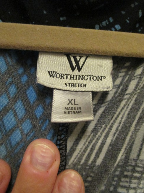 Worthington Top Blue, Black, & Grey