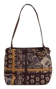 Vera Bradley New! Tote in Brown/Blue/Yellow