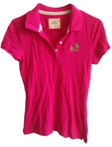 Hollister Polo T Shirt Pink