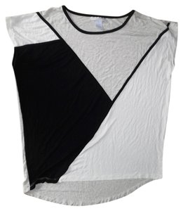 Design History Oversized Batwing Dolman Slouchy Top Black, Gray, White
