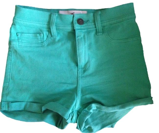 Hollister High Waisted Jegging Stretchy Mini/Short Shorts Mint