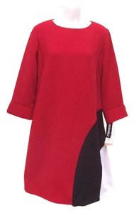 Julian Taylor A-line Color-blocking Dress