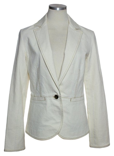 Lafayette 148 New York Cotton Blend Cream Jacket