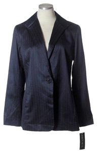 Lafayette 148 New York Cotton/silk Pinstripe Suiting Black Blazer