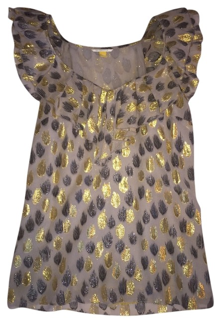 Item - Gold Silver Gray. Shimmer Blouse Size 2 (XS)