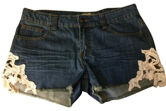 Others Follow Lace Cut Off Shorts Jean