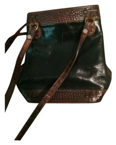 Brahmin Brown Leather Black Shoulder Bag
