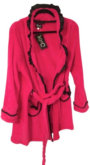 K & C Candy Pink Fleece Robe