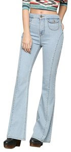 BDG High-waisted Urban Outfitters Flare Leg Jeans-Light Wash