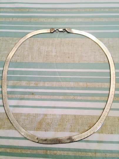 """Vior Made in Italy 18"""" Sterling Silver Herringbone Necklace"""