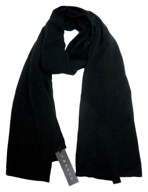 Item - Black Designer Keliana Cotton Blend Scarf/Wrap