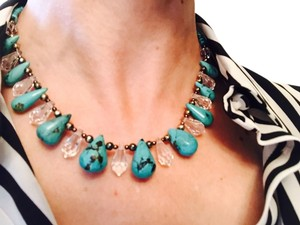 Paige Wallace Designer Turquoise Necklace (real turquoise stones)