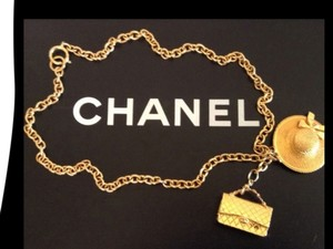 Chanel Sale ! FAMOUS VINTAGE CHANEL GOLD PLATED LARGE CHARMS NECKLACE