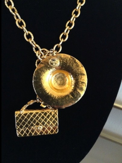 Chanel FAMOUS VINTAGE CHANEL GOLD PLATED LARGE CHARMS NECKLACE