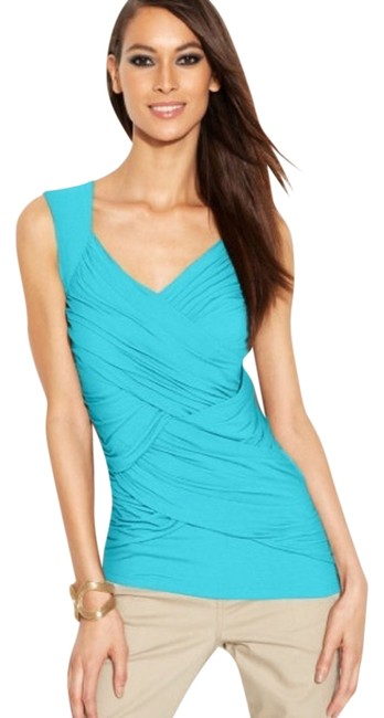 Preload https://item4.tradesy.com/images/inc-international-concepts-blue-women-s-ruched-sleeveless-blouse-size-8-m-4731298-0-0.jpg?width=400&height=650