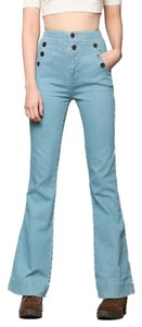 BDG Urban Outfitters High-waisted Flare Leg Jeans-Light Wash