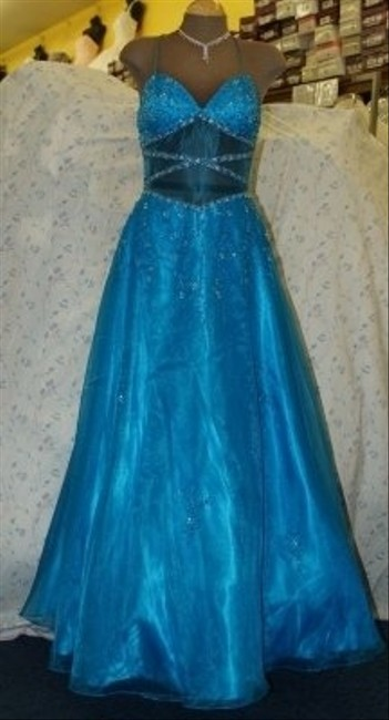 Precious Formals Blue Other Turquoise #10161 Formal Bridesmaid/Mob Dress Size 8 (M) Precious Formals Blue Other Turquoise #10161 Formal Bridesmaid/Mob Dress Size 8 (M) Image 1