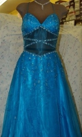 Precious Formals Blue Other Turquoise #10161 Dress Size 8 (M)