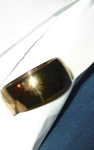 10mm Gold Plated Stainless Steel Band Ring Free Shipping