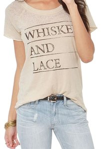 Chaser Whiskey And Lace Words T Shirt off white