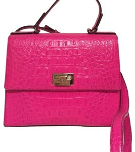Kate Spade Pinksaphere Doris Orchard Valley Gold Strap Handle New With New Dustbag Crocodile Leather Cross Body Bag