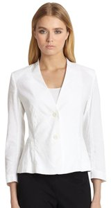 Theory Minimal Cropped Crunch White Blazer