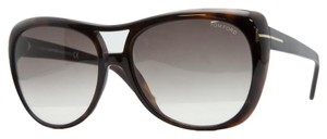 Tom Ford Tom Ford Brown Full Rim Oversized Aviator Sunglasses