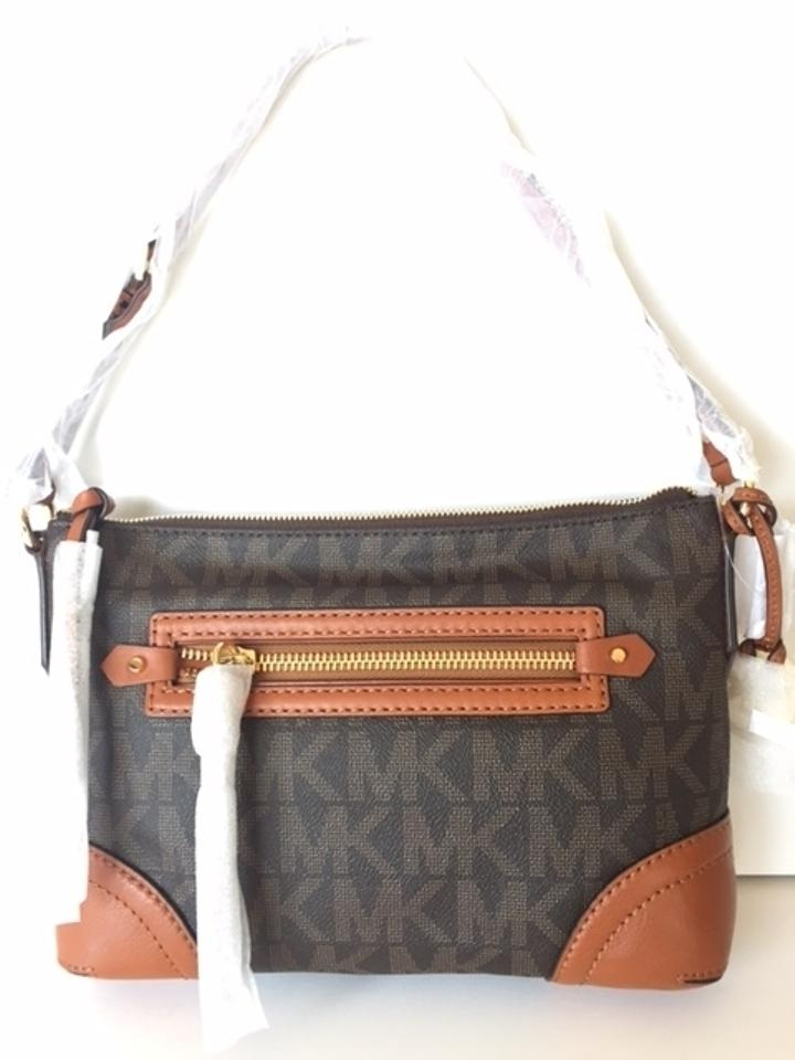 79f371abaf6cf ... Michael Kors Fallon Medium PvcLeather Shoulder Bag ...