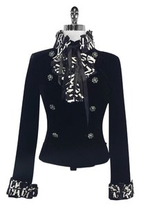 Chanel Velvet Double Brasted Embellished Jacket
