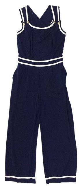 Preload https://item4.tradesy.com/images/navy-white-nautical-sleeveless-high-low-romperjumpsuit-size-10-m-4733158-0-0.jpg?width=400&height=650