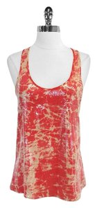 Parker Print Sequin Silk Top