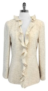 Chanel Tweed Ruffle Wool Silk Jacket