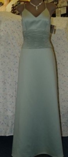 Green Satin Jordan Pistachio #807 Formal Bridesmaid/Mob Dress Size 6 (S)