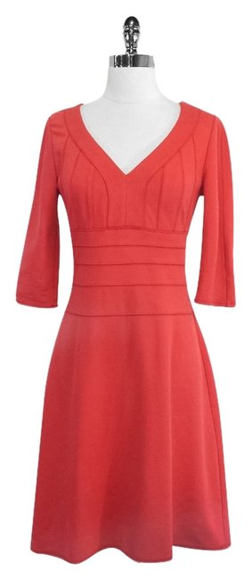 Kay Unger short dress Coral Knit Sleeve on Tradesy